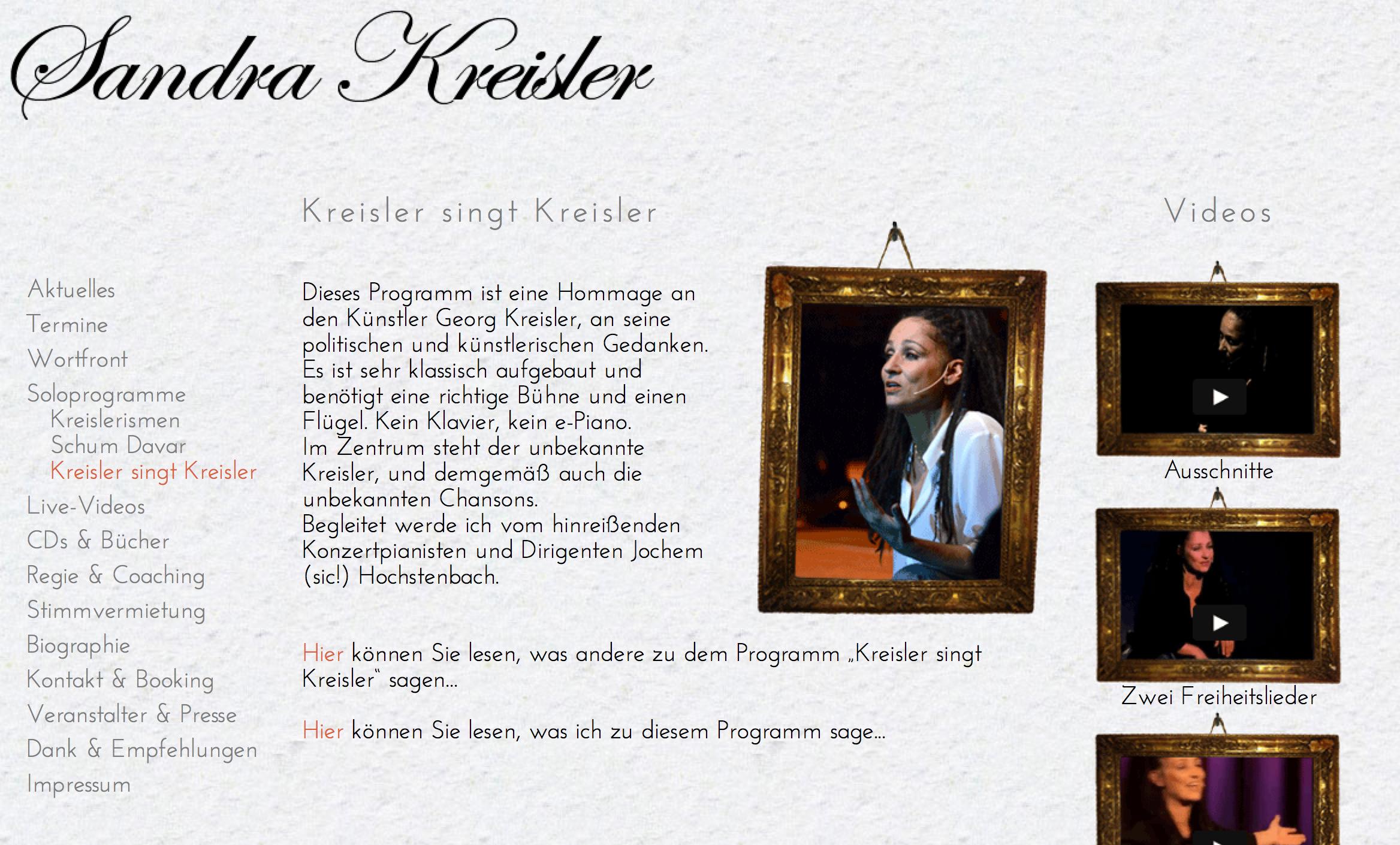 Website Sandra Kreisler